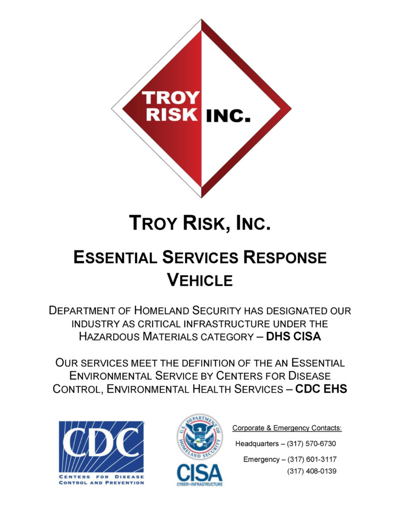 Troy Risk Covid Essential Services