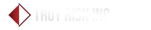 Troy Risk Logo Bebas White
