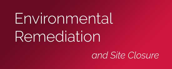 Environmental Remediation, Monitoring, and Site Closure